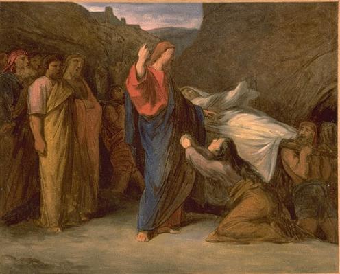 En la voyant, le Seigneur fut saisi de pitié pour elle, et lui dit : « Ne pleure pas. » Il s'avança et toucha la civière ; les porteurs s'arrêtèrent, et Jésus dit : « Jeune homme, je te l'ordonne, lève-toi. »
