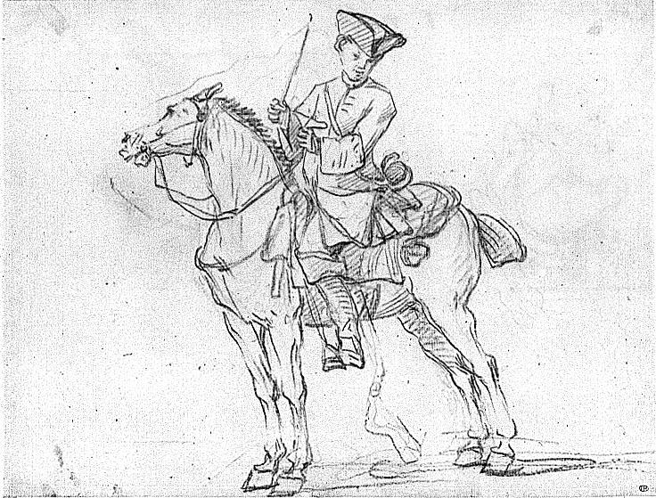 Cavalier dessin colorier - Dessin cavaliere ...